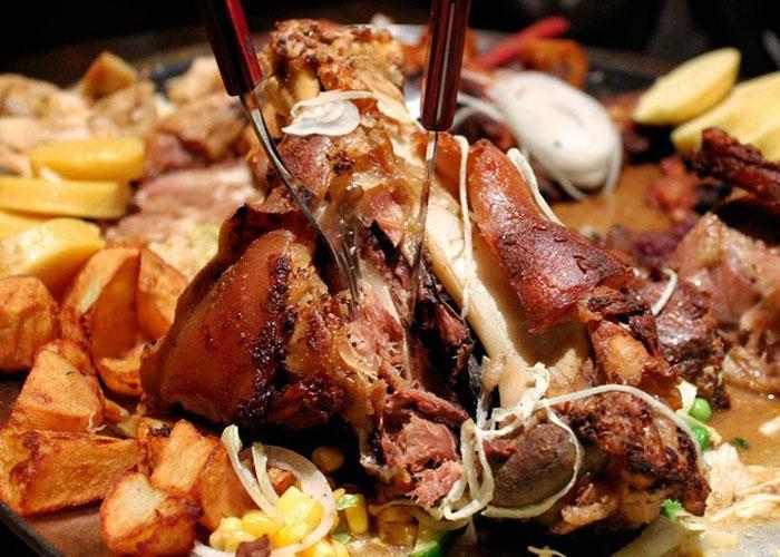Блюда Чешской кухни: вепрово колено