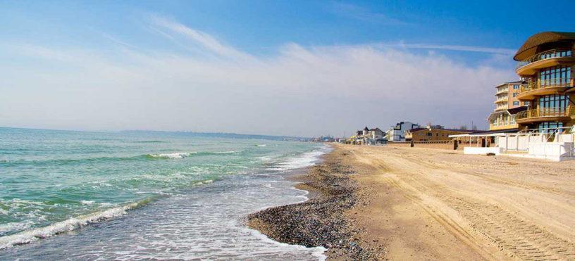 Коблево пляж