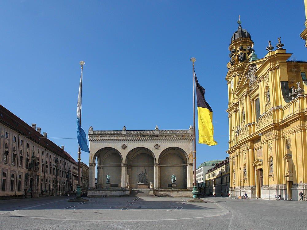 площадь Одеона Мюнхен