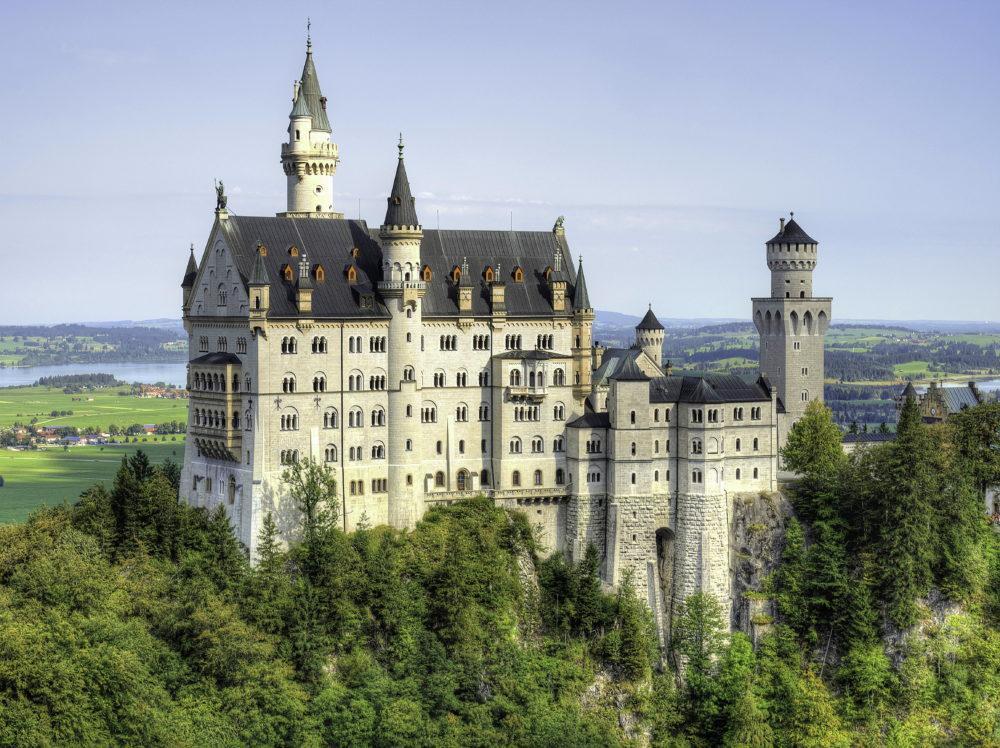 Бавария замок Нойшванштайн