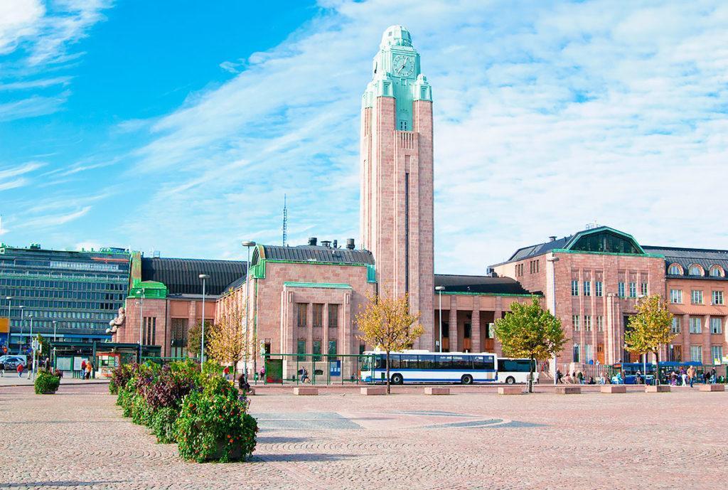 Ж/д вокзал в Хельсинки