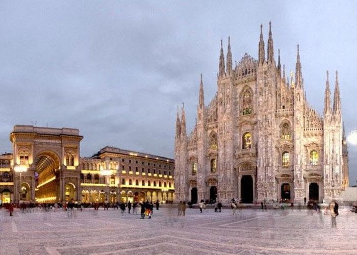 Милан площадь Дуомо