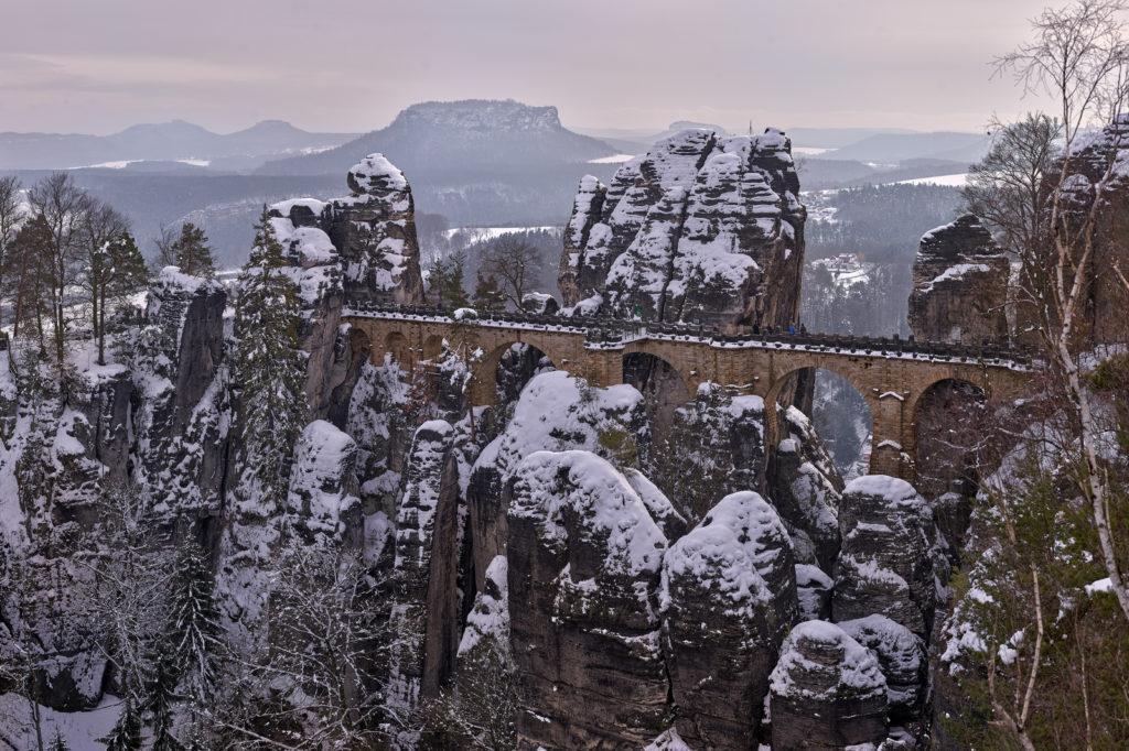Саксонская Швейцария зимой